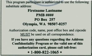 ACP Authorization card back