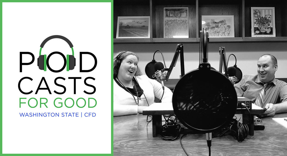Philip and Heather recording a podcast for CFD