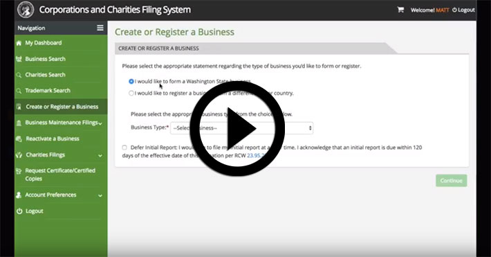 Registering a Business Entity