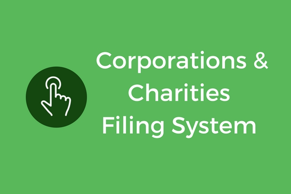 Corporations and Charities Filing System Icon