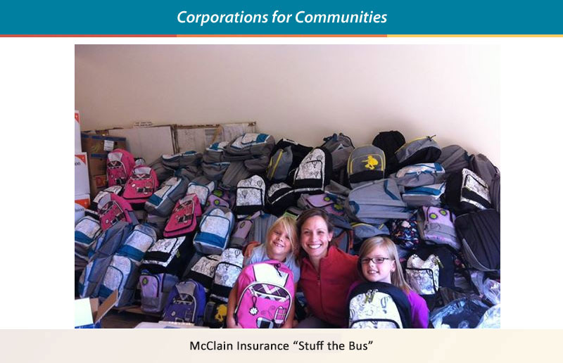McClain's Insurance - Stuff the Buss