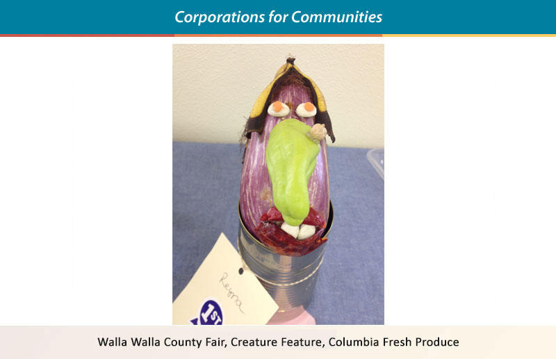 Walla Walla County Fair, Creature Feature, Columbia Fresh Produce