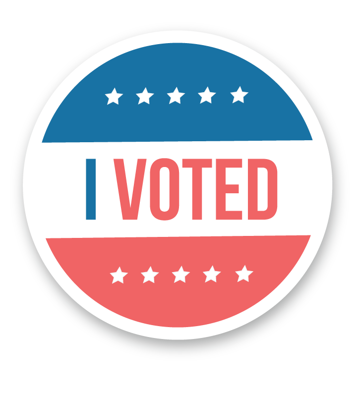 image regarding I Voted Stickers Printable known as I Voted\