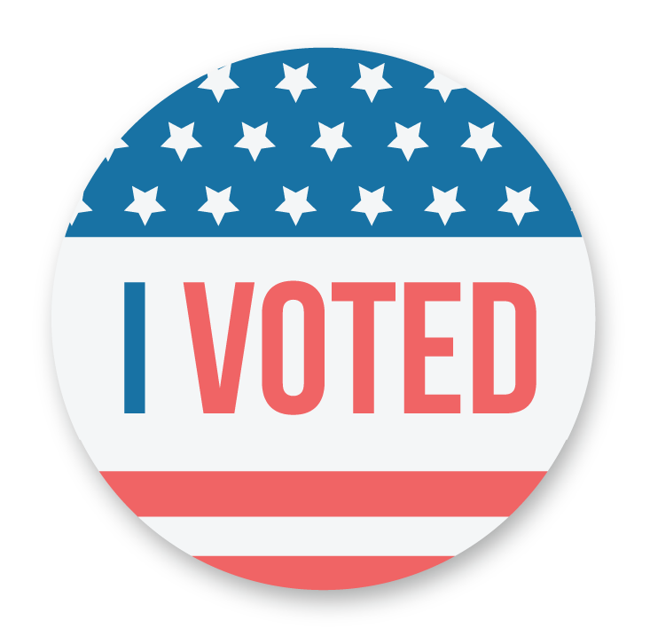 picture about I Voted Stickers Printable titled I Voted\