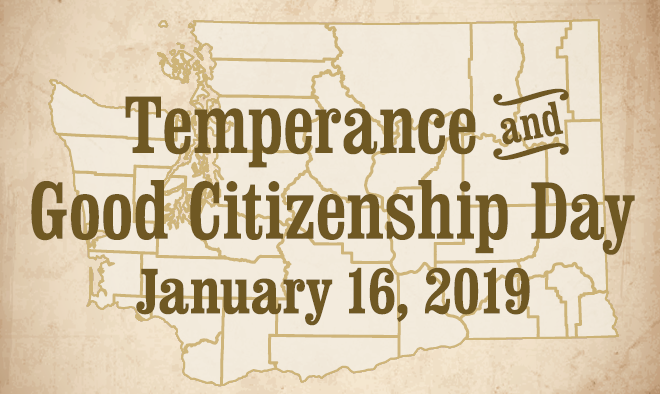 Poster for Temperance and Good Citizenship Day 2019