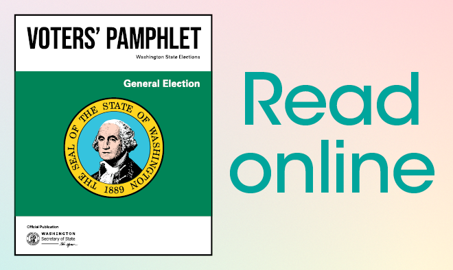 """Cover of statewide voters' pamphlet with """"Read online""""."""