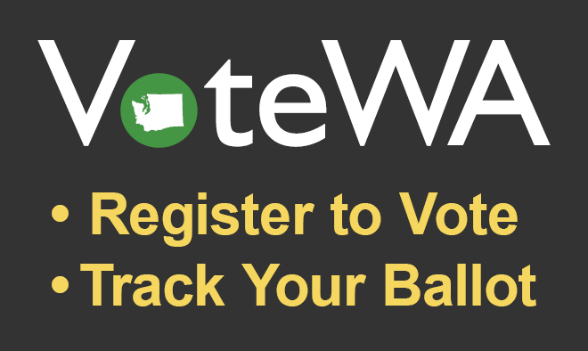 image with a solid green background with the words VoteWA in white placed in the center