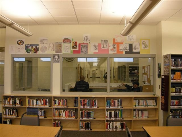 CRCC Art Display in the Library