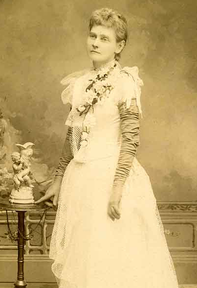 detail from a photograph of Ellen Stevenson, Territorial and State Librarian of Washington 1888-1890