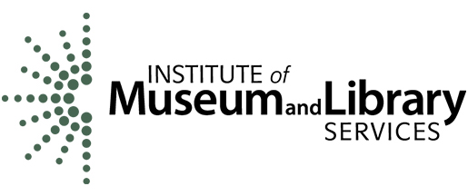 A picture of the Institute of Museum and Library Services (IMLS) logo.