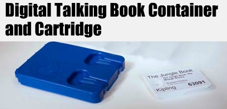 Image of Digital Talking Book Container and Cartridge