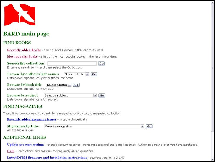 Figure 1: Screenshot of BARD main page