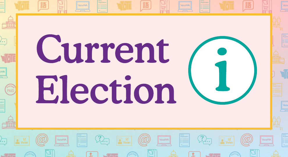 Current election with information icon to the right