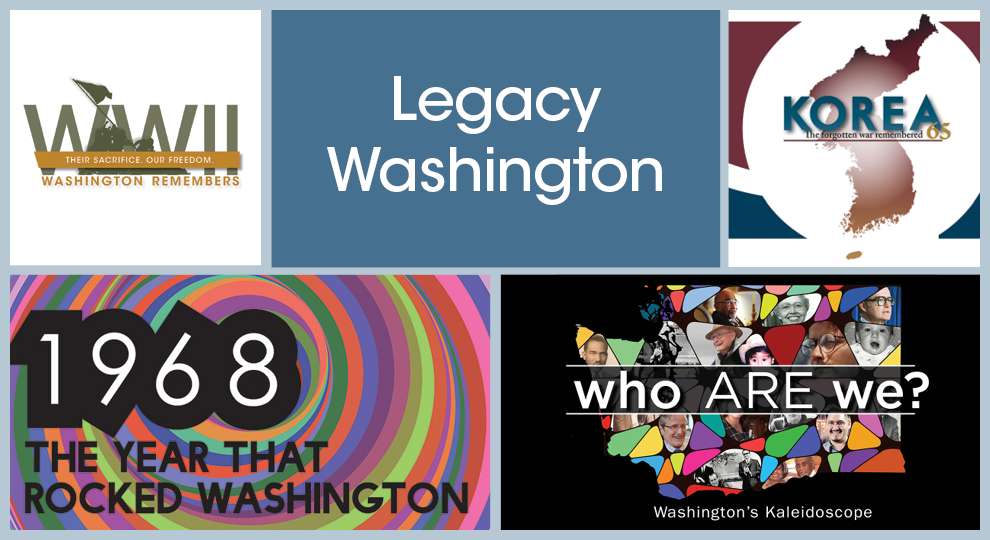 Collage image of different Legacy Washington projects