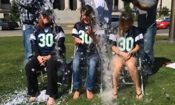 Secretary Wyman takes the ALS ice bucket challenge