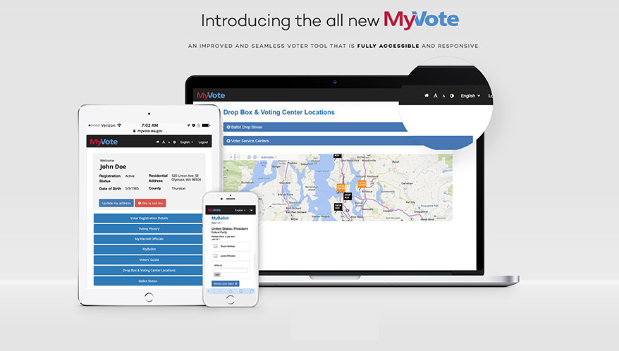 MyVote screen shots