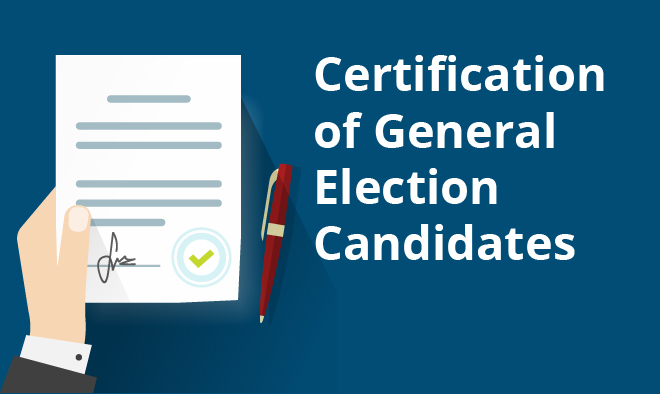 Certification of General Election Candidates