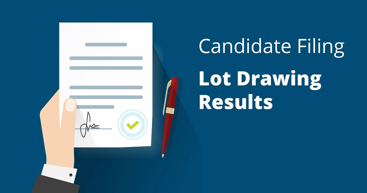 2018 Candidate Lot Drawing