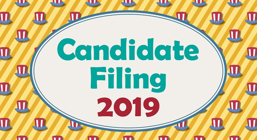 Graphic for candidate filing week