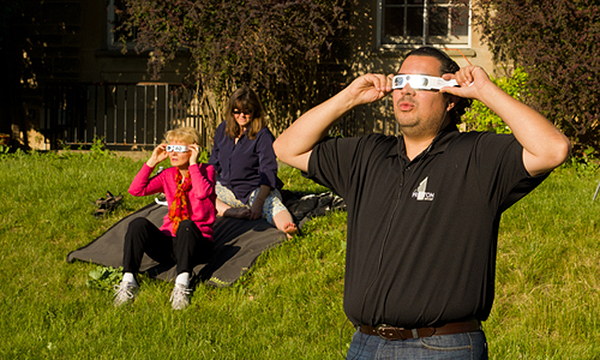 People viewing eclipse