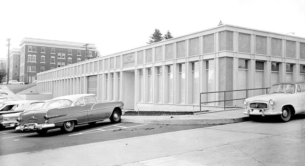 Exterior of Archives Building from 1960s