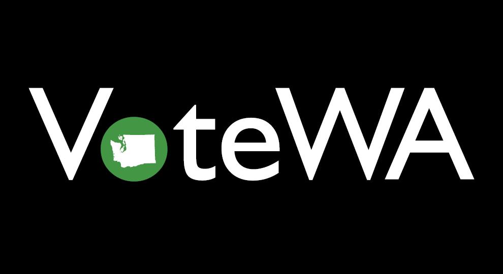 Black background with votewa logo