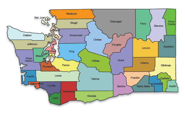 Map of Washington State - Click on a county to see ACP resources