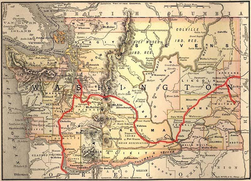 Pennsylvania Of The West Washington Blazes Rails And The - 1889 us railroad map