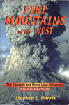 Book cover image of Fire Mountains of the West. By Stephen L. Harris.